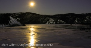 I have never seen the moon as in I did in Yukon