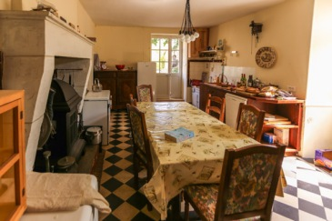 The kitchen of the main farm house